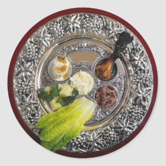 Placa de Seder Pegatina Redonda