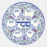 Placa de Seder Pegatinas Redondas