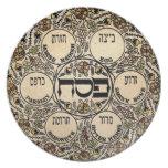 Placa de Seder Platos