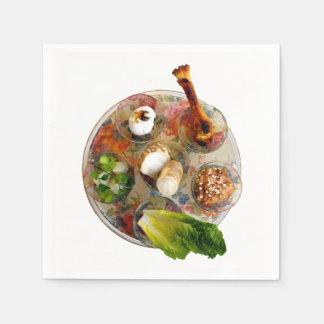 Placa de Seder Servilleta Desechable