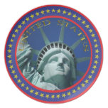 Placa de señora Liberty Platos Para Fiestas