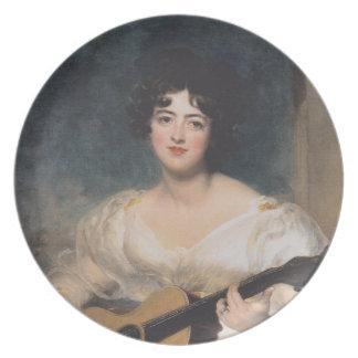 Placa de señora Wallscourt del der de Bildnis Platos Para Fiestas