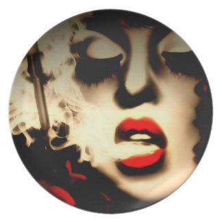 Placa de señora With A Additude Melamine Platos De Comidas