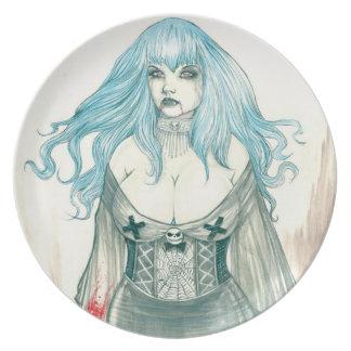Placa de Shannon del vampiro Plato De Cena