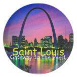 Placa de St. Louis Plato Para Fiesta