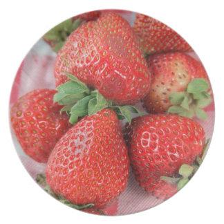 Placa de Stawberry Platos De Comidas