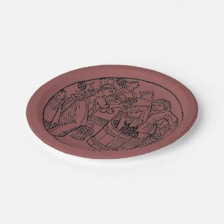 Placa de Stompers de la uva Platos De Papel