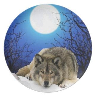Placa de sueño del lobo platos
