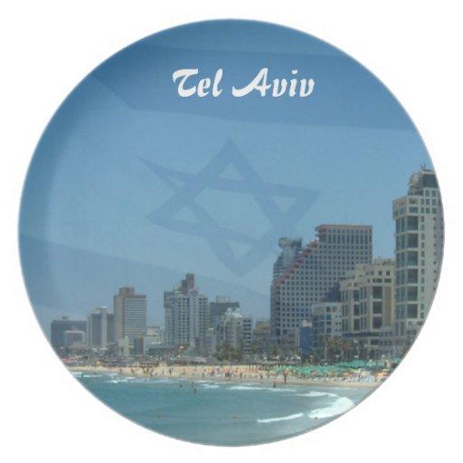 Placa de Tel Aviv Platos De Comidas