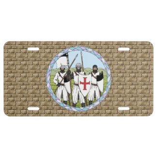 Placa de Templar de los caballeros Placa De Matrícula