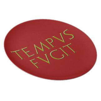 Placa de Tempus Fugit Platos De Comidas