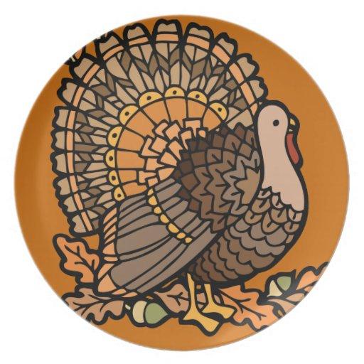 Placa de Turquía Plato De Cena
