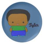 Placa de Tyler Platos De Comidas