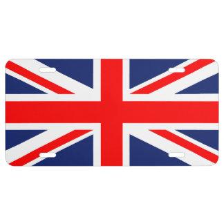 Placa de Union Jack Placa De Matrícula