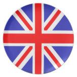 Placa de Union Jack Plato De Cena