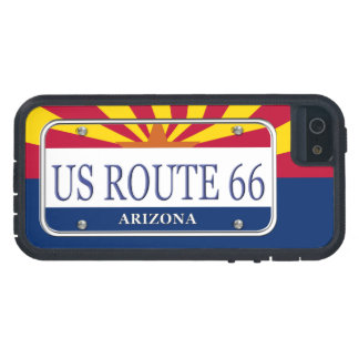 Placa de vanidad de Arizona de la RUTA 66 de los iPhone 5 Funda