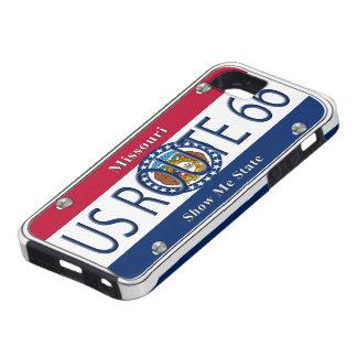 Placa de vanidad de Missouri de la RUTA 66 de los  iPhone 5 Carcasa