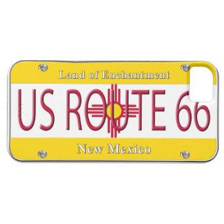 Placa de vanidad de New México de la RUTA 66 de lo iPhone 5 Case-Mate Cárcasa