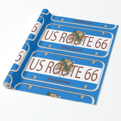 Placa de vanidad de Oklahoma de la RUTA 66 de los