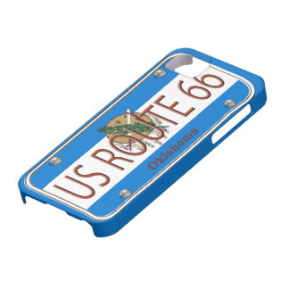 Placa de vanidad de Oklahoma de la RUTA 66 de los  iPhone 5 Case-Mate Coberturas