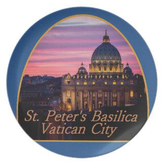 Placa de VATICAN Italia Platos De Comidas