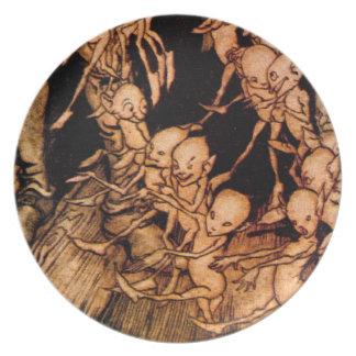 Placa de Ver 3 del cuento de hadas de los gnomos d Plato De Cena