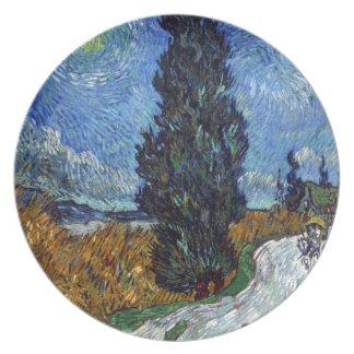 Placa de Vincent van Gogh de la carretera nacional Plato