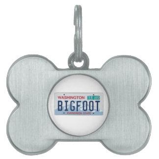 Placa de Washington Bigfoot Placas De Nombre De Mascota