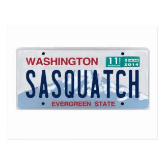 Placa de Washington Sasquatch Tarjeta Postal