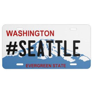 Placa de Washington Seattle Placa De Matrícula