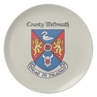 Placa de Westmeath del condado Platos
