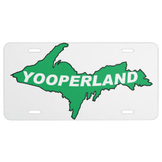 Placa de Yooper Placa De Matrícula