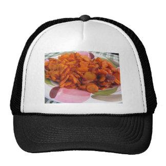 Placa de zanahorias stir-fritas gorras de camionero