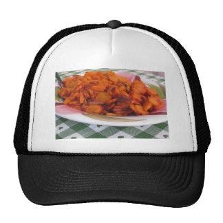 Placa de zanahorias stir-fritas gorros