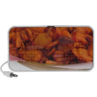Placa de zanahorias stir-fritas iPhone altavoz