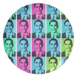 Placa de Zazzle del diseño de Barack Obama Platos