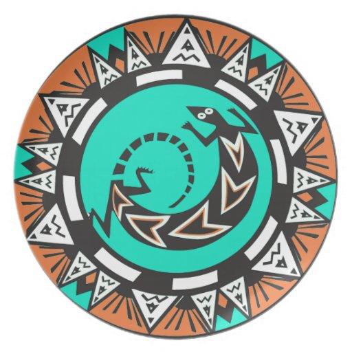 Placa de Zazzle del diseño del nativo americano Platos