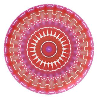 Placa decorativa al sudoeste roja y púrpura platos para fiestas
