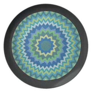 Placa decorativa azul de Starburst Plato De Comida