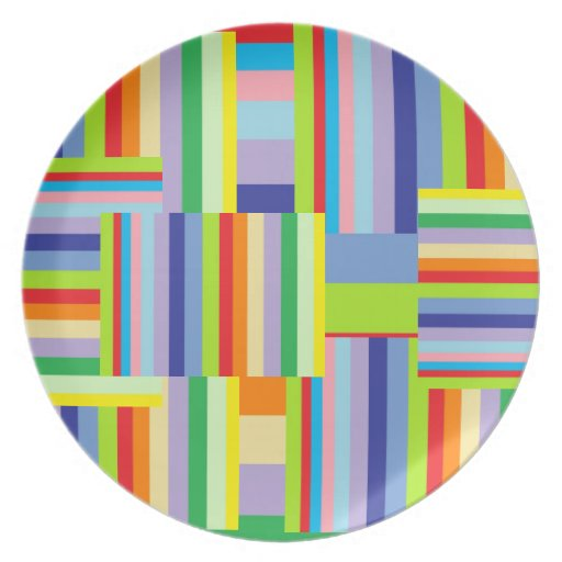 Placa decorativa colorida plato de cena