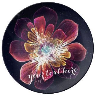 Placa decorativa de encargo de la porcelana de la platos de cerámica