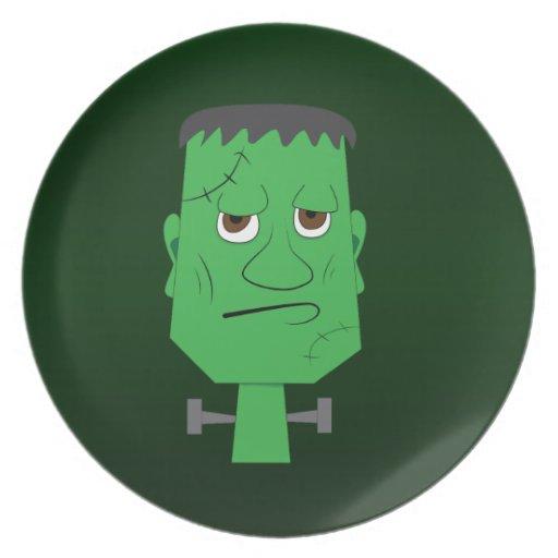 Placa decorativa de Frankenstein en verde Platos De Comidas