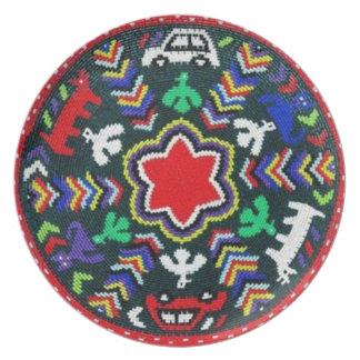Placa decorativa de la armadura surafricana plato para fiesta