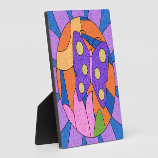 Placa decorativa de la mariposa colorida