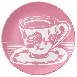 Placa decorativa de la porcelana de la taza de té plato de cerámica