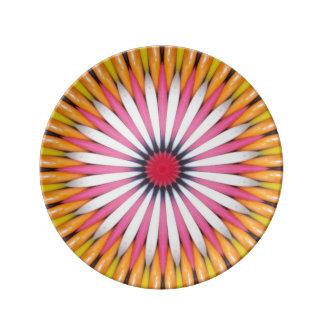 Placa decorativa de la porcelana del arte colorido platos de cerámica