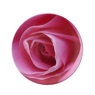 Placa decorativa de la porcelana rosada eterna platos de cerámica