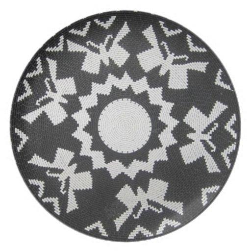 Placa decorativa de las mariposas del Zulú Platos Para Fiestas