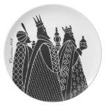 Placa decorativa de Wisemen Platos De Comidas