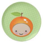 Placa decorativa del brote anaranjado dulce de Chi Platos Para Fiestas